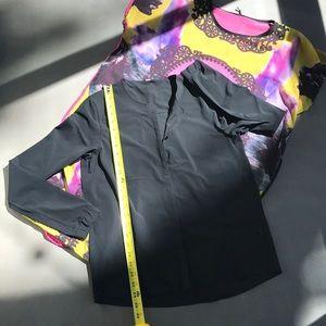 lululemon athletica Tops - Lululemon Black Solo Blouse Cardigan Shirt Top